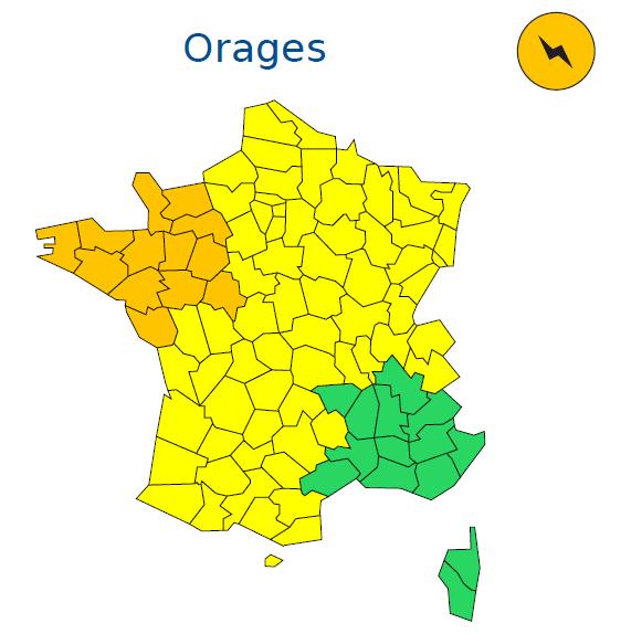 Alerte Météo France Orages