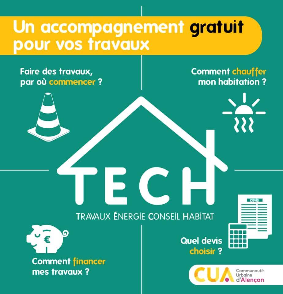 dispositif TECH de la CUA – Travaux Énergie Conseil Habitat
