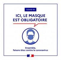 Arrêté préfectoral: obligation du port du masque