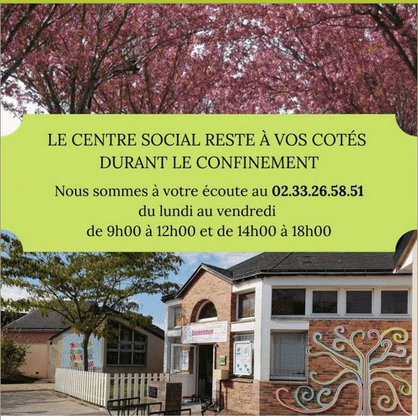 Centre social Edith Bonnem – accueil des enfants de professionnels indispensables à la gestion de la crise sanitaire